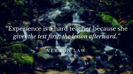 """Experience is a hard teacher Quote"